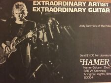 The Police, Andy Summers, Hamer Guitars, Vintage Promotional Ad