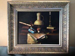 Music Study Framed Oil Painting