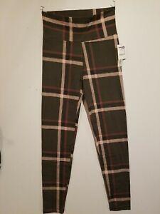 CHARLOTTE RUSSE New Junior Ladies High Waisted Plaid Leggings Size Medium