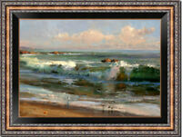 """Hand-painted Original Oil painting art Impressionism seascape on Canvas 24X36"""""""