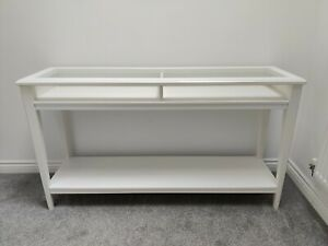 IKEA LIATORP console sideboard side table white/glass 133x75x37cm MINT