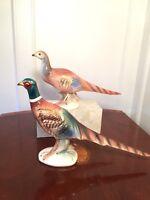 Vintage Mid-Century BRAD KEELER California Pottery Pair of Pheasant Figurines