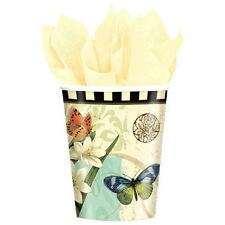 FLORAL Garden Melody 9oz PAPER CUPS (8) ~ Birthday Party Supplies Beverage Drink