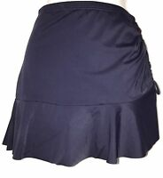 plus sz M /20 TS TAKING SHAPE Navy Swimwear Tahiti Ruffle Swim Skirt  NWT!