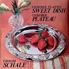 Chrom Schale für Obst  Deko Silber verchromt ⌀ 20 cm Tiefe 3 cm Metall