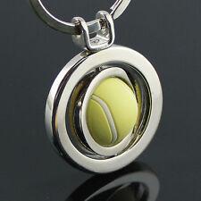 Qualità Color Argento Portachiavi C/W SPINNING palla da tennis! ora Soltanto £ 4.50!