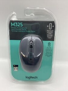 Logitech  M325 Wireless Optical Mouse  Works with Chromebook Silver Brand New
