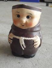 "Vintage Ceramic Friar Tuck Monk Figural Creamer 4 1/4"" Tall"