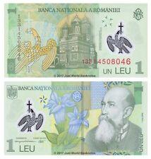 Romania 1 Leu 2013 P-117d Polymer Banknotes UNC