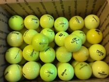 50 Assorted  Yellow Golf Balls