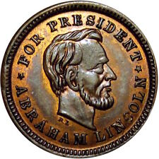 Abraham Lincoln & Andrew Johnson Political Patriotic Civil War Token