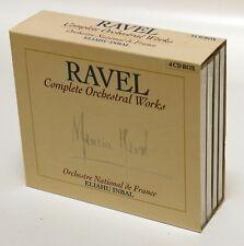 ELIAHU INBAL - RAVEL complete orchestral works BRILLIANT 4xCDs NM