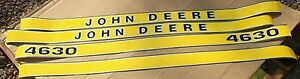 JOHN DEERE 4630 DECALS. HOOD DECAL ONLY. GREAT QUALITY.