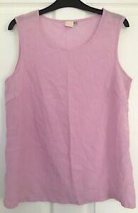VINTAGE ladies Vest Tank Size 16 Pink INFINITY Basics Staple