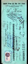 """CHATEAUROUX (36) PORCELAINE / CRISTAL """"S. MILON"""" en 1931"""