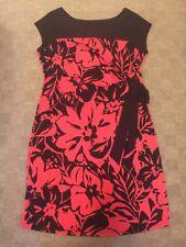 Motherhood Maternity Red & Black Dress Cap Sleeve Size XL