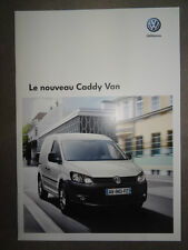 Catalogue Volkswagen Le Nouveau Caddy Van de Septembre 2010 15 pages NEUF