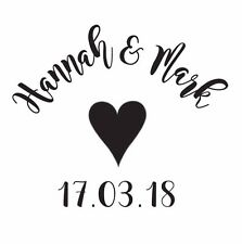 PERSONALISED SAVE THE DATE RUBBER STAMP WEDDING ENGAGEMENT FAVOUR TAGS ENVELOPES