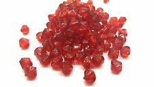 25g of 6mm Dark Red Acrylic Plastic Faceted Bicone Beads - A5309