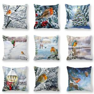 New Year Pillow Case Home  Sofa Decor Cushion Cover Christmas  Decorations