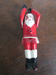 VINTAGE SANTA IRON FIGURE FOR HUBLEY IRON TOY SLEIGH MOVEABLE ARMS