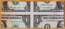 "Mis-made real U.S. 1$ bill - expertly cut magic ""mismade bill"" - free shipping!"