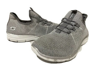 Skechers Air-Cooled Women's Shoes SlipOn Comfort Walk Gray Size 6 Eur 36 UK3.S31