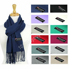 Solid Scarf 100% Cashmere Made Scotland Soft  Winter Scarf For Men  And Women