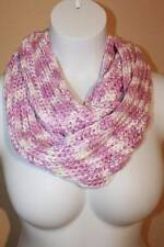 US Seller NEW Womens Crochet Infinity Scarf Fashion Purple Knit Loop Circle Warm