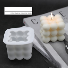 Cube Silicone Candle Making Mold Tea Light Mould Wax Resin Casting Epoxy Craft