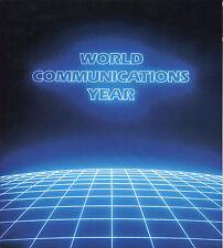 World Communications Year Aerogramme Orcoexpo Jan 7 1983 Autographed Program