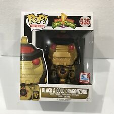 "Power Rangers Dragonzord Black & Gold NYCC 2017 Exclusive 6"" Pop vinyl RARE"
