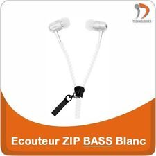Ecouteur ZIP Earphone Oortelefoon iPhone iPod Mobile Phone MP3 MP4 White E-211
