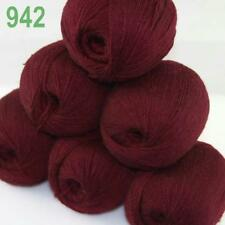 AIP 6 Balls x50gr LACE Soft Acrylic Wool Cashmere Hand Knit Crochet Wrap Yarn 42