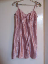 Next Shiny Pink Floral Short Chemise in Size 10