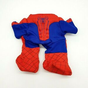 Build A Bear Spiderman Outfit Red Blue Clothes Toy Superhero Padded Chest Feet