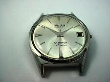 Vintage Watch Case Id 30.05mm Silver Tone Mens Gruen Crystal Dial Hands NOS