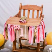 Kid 1st Happy Birthday Boy/Girl High Chair Banner Tulle Bunting Garland Decor 6L