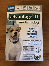Nip! 6-Pack Bayer Advantage Ii Flea & Lice Med Dog (11-20 lb) Waterproof!
