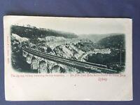 ±1900 Postcard BLUE MOUNTAINS Zig-Zag RAILWAY SYDNEY AUSTRALIA Stengel Dresden