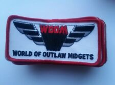LOT OF 15 World of Outlaw Midget racing patches  woom +