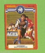 Canterbury Bulldogs 1986 Season NRL & Rugby League Trading Cards