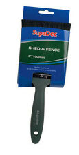"Shed & Fence Garden Wood Timber Creosote Paint Brush 4"" ( 100mm )"