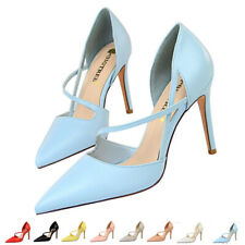 High Heels Pointed toe Women's Ladies Stiletto Court Shoes Cross Strap Pumps