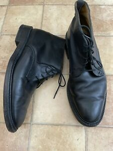Oliver Sweeney Men's Black Leather Ankle Boots, Size 9.5, Very Good Condition