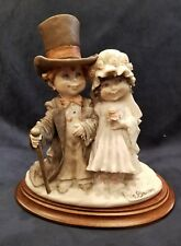 Giuseppe Armani Wedding Anniversary Figurine Statue Capodimonte Wood Base Mint