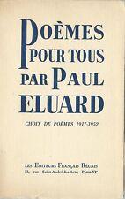 RARE EO N° HORS COMMERCE PUR FIL + PAUL ELUARD : POÈMES POUR TOUS 1917-1952