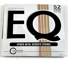 Cleartone Guitar Strings EQ Acoustic Hybrid Metal Blend Custom Light 11-52