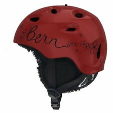Bern Cougar Audio Women's Ski Snowboard Helmet Cranberry S (54-55.5cm) - New!
