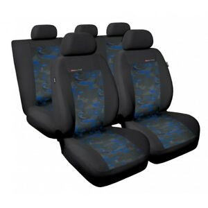 Car seat covers fit Toyota Prius grey/blue